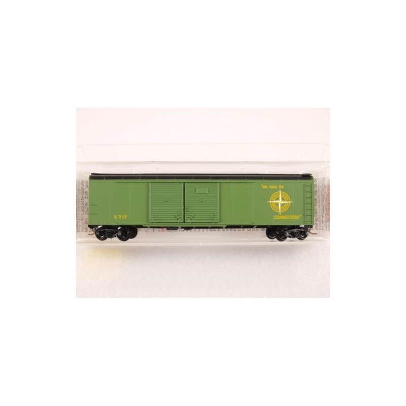489-79040 N 50' Wagon Top Box Car, Double Door_30649