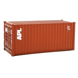 949-8061 HO 20' Corr.Side Container APL (brown, wh_31709