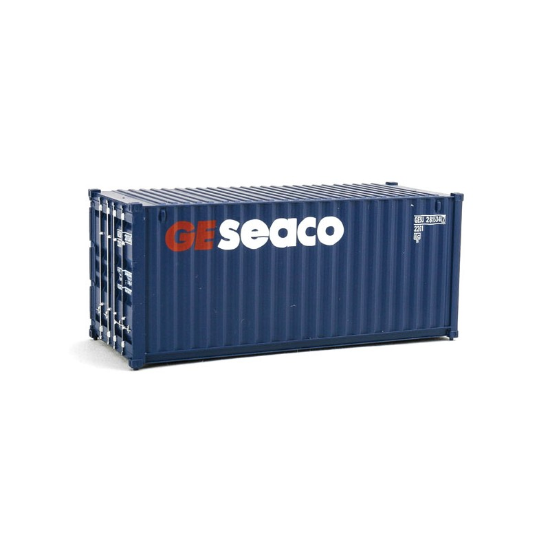949-8064 HO 20' Corr.Side Container GE Seaco (blue_31731