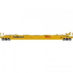 140-12399 N Husky stack well car TTX # 56398_32286