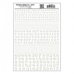 Dry Transfer Decals Nummer Roam R.R. weiss_3240