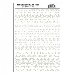 Dry Transfer Decals Extended Roman weiss_3248