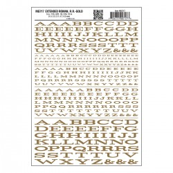 Dry Transfer Decals Extended Roman gold_3249
