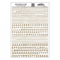 Dry Transfer Decals Gothic R.R. gold_3254