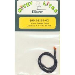 Microlampen 1.4 mm Orange 2 Stück_32569