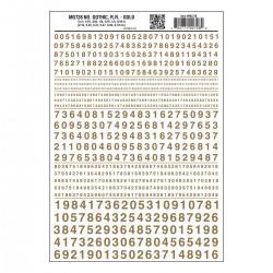 Dry Transfer Decals Nummern Gothic R.R. gold_3260