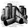 169-784 O Roll Tar Paper Dachpappe - old silver_32751