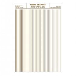 Dry Transfer Decals Streifen gold_3293