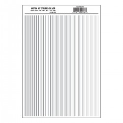 Dry Transfer Decals Streifen silber_3296