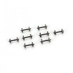 """140-90504 HO 36"""" Metal Wheelset, Long Axle (8)_33957"""
