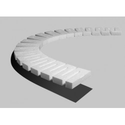 """Erhebung - Riser 1,25cm hoch 1/2"""" 4 Stück_3450"""