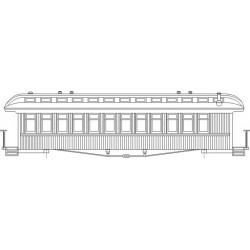 HOn3-20 D&RGW 60' Coach_34750