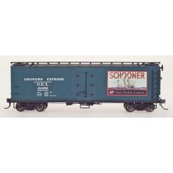 YYM-51015-02 HO Refrigerator Car Schooner Green_35374