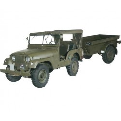 HO Armee-Jeep Willys M38A1 mit Anhän_35847