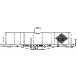 HO-51  Texas Midland Tank Car_36524