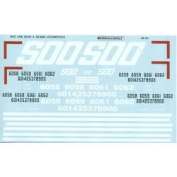 460-48-161 O SOO Line SD-60 & SD-60M Locos, 1989+_36730