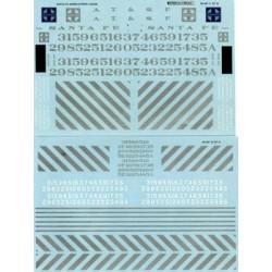 460-48-267 O Santa Fe Hood Diesels - Zebra Stripe_36749