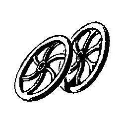 """585-31127  HO  12"""" 6-Spoke Brake Wheel_37527"""