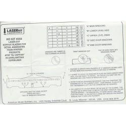 152-258  HO Pre-Masked Laser-Cut Acrylic Glazing W_37866