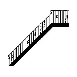 HO Staircase ornamental iron_37957