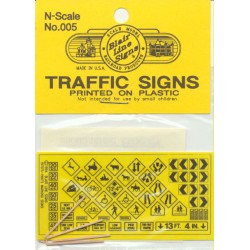 184-5 N Highway signs Warning #1 1971-Present (bla_38094