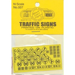 184-7 N Highway signs Warning #3 1948-Present (bla_38098