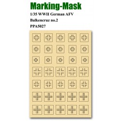 JWM-5027 Marking Mask for 1/35 WWII German AFV Bal_38128