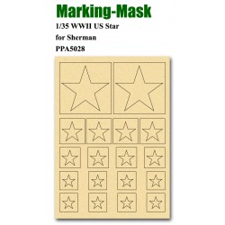 JWM-5028 Marking Mask for 1/35 WWII US Star for Sh_38130