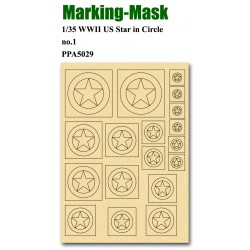 JWM-5029 Marking Mask for 1/35 WWII US Star in Cir_38132