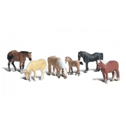 HO Bauernhof-Tiere - Farm Horses_3842