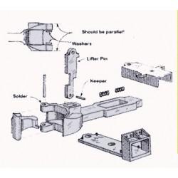 585-9929 G Draft Gear Box w. knuckle coupler_38423
