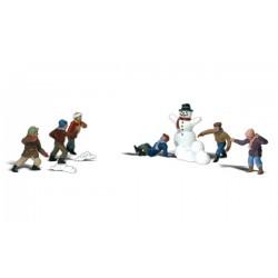 HO Kinder bei Schneeballschlacht - Snowball Fight_3867