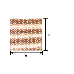 570-91886 HO (1:100) BROWN BRICK SHEET_39126