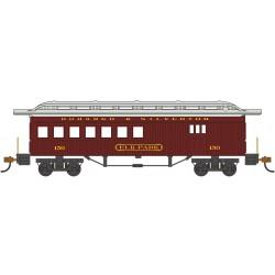 HO 1860-1880 Passenger Car D&S red_39386