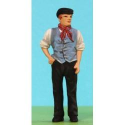 2301-A104 Canal Boatsman wear a waistcoat_39749