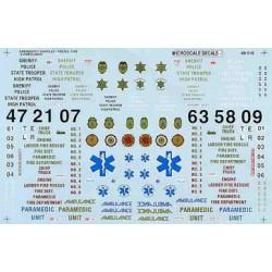 460-48-510 O Abziehbild Emergency Vehicles (1970+)_40942
