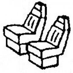 119-3059 HO Truck Cab Seats Modern Hi-Back Type pk_41040