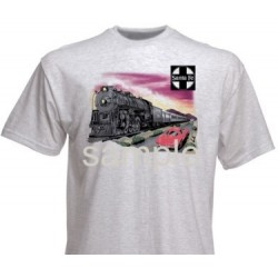 "5306-10142-06 T-Shirt XL ""ATSF 3751 on Route 66""_4188"