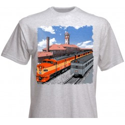 T-Shirt Go by train Portland! L_4199