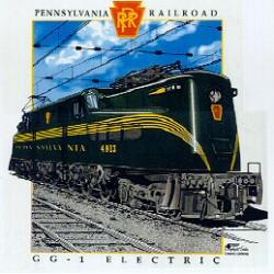 "5306-10011-04 T-Shirt  M ""Pennsylvania RR GG-1""_4210"