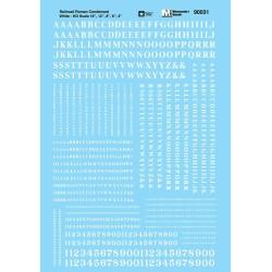460-90031 HO Roman - Condensed Letters & Nr white_42155