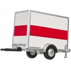 150-60.000.099 HO Box Trailer sgl axle orange stri_42390