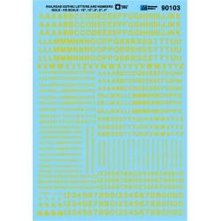 460-70103 N Alphabets - Railroad Gothic - Gold_44070