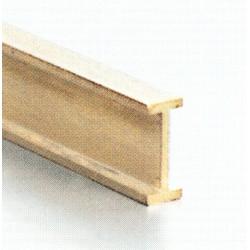 Messing I Profil 1.5 x 1.0 mm L: 980 mm gefräst_44556