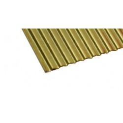 Wellblech Messing 97 x 190 x 0,1mm Welle 2,0m CuZn_45141