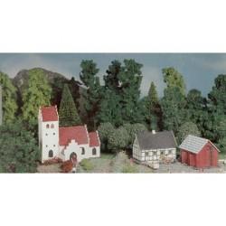 N Kirche / Pfarrhaus und Scheune 11x9x6cm - 16x9x5_45344