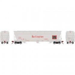 N ACF 4600 3-bay centerflow hopper CB&Q, 184497_45574