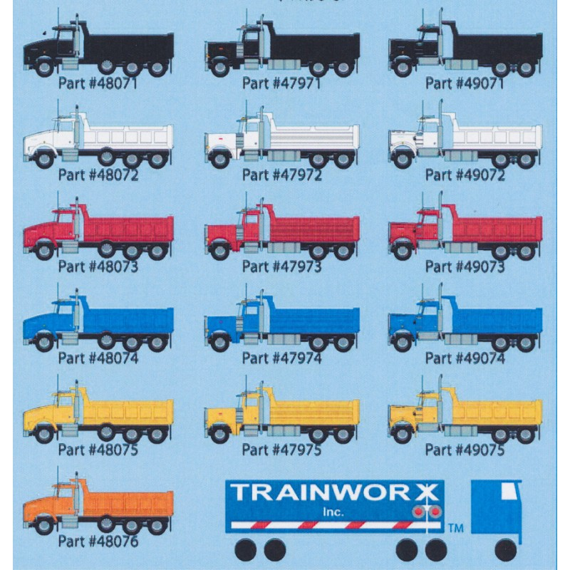N Kenworth T800 Dump Truck - yellow - gelb_46567
