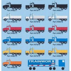 N Kenworth T800 Dump Truck - weiss - Modell Mitte_46570