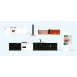 HO Kücheneinrichtung 9 Teile Fertigmodell_46870